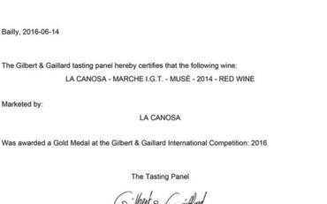 La Canosa AWARDS #1