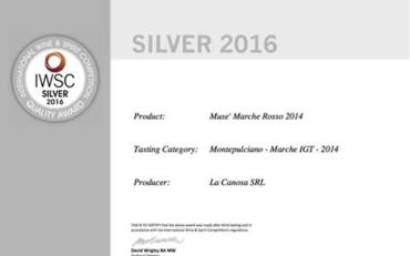 Muse medaglia d'argento The International Wine and Spirit Competition (IWSC)