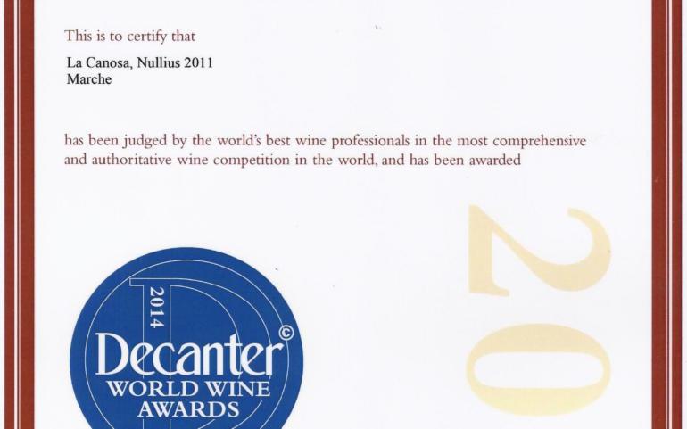 DECANTER WORLD AWARDS 2014
