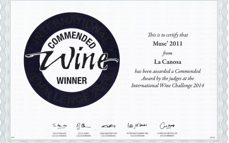 International WIne Challenge 2014 Musè 2011