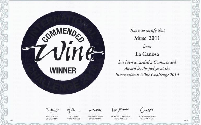 International WIne Challenge 2014 Musè 2011