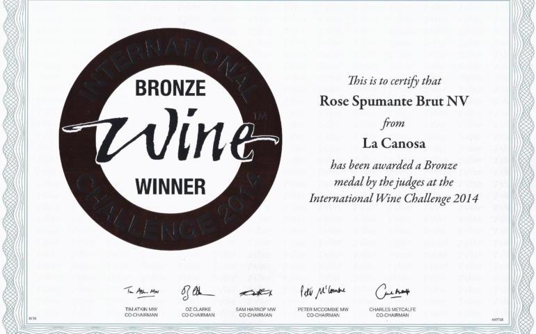 International Wine Challenge 2014 | Rose Spumante Brut