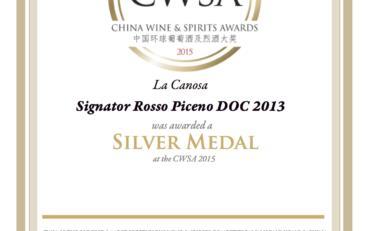 CWSA Signator 2013 Silver Medal