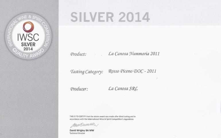 IWSC Silver 2014