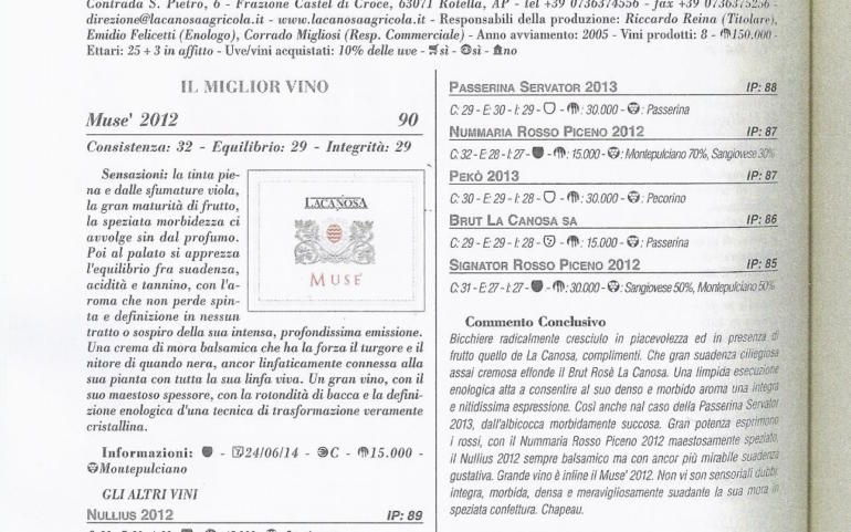 Guida Migliori vini italiani 2015