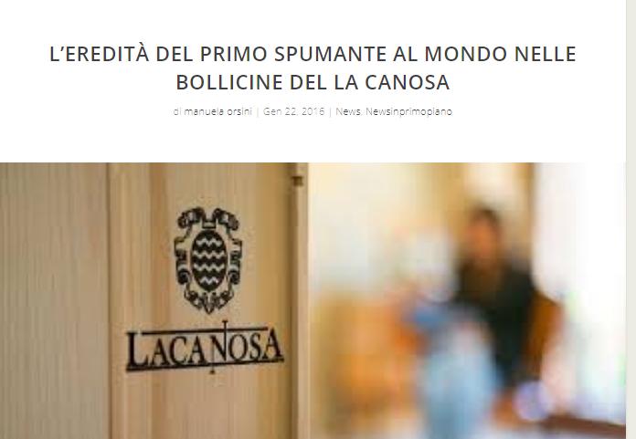 La cantina La Canosa e il suo Spumante su I Grandi Vini